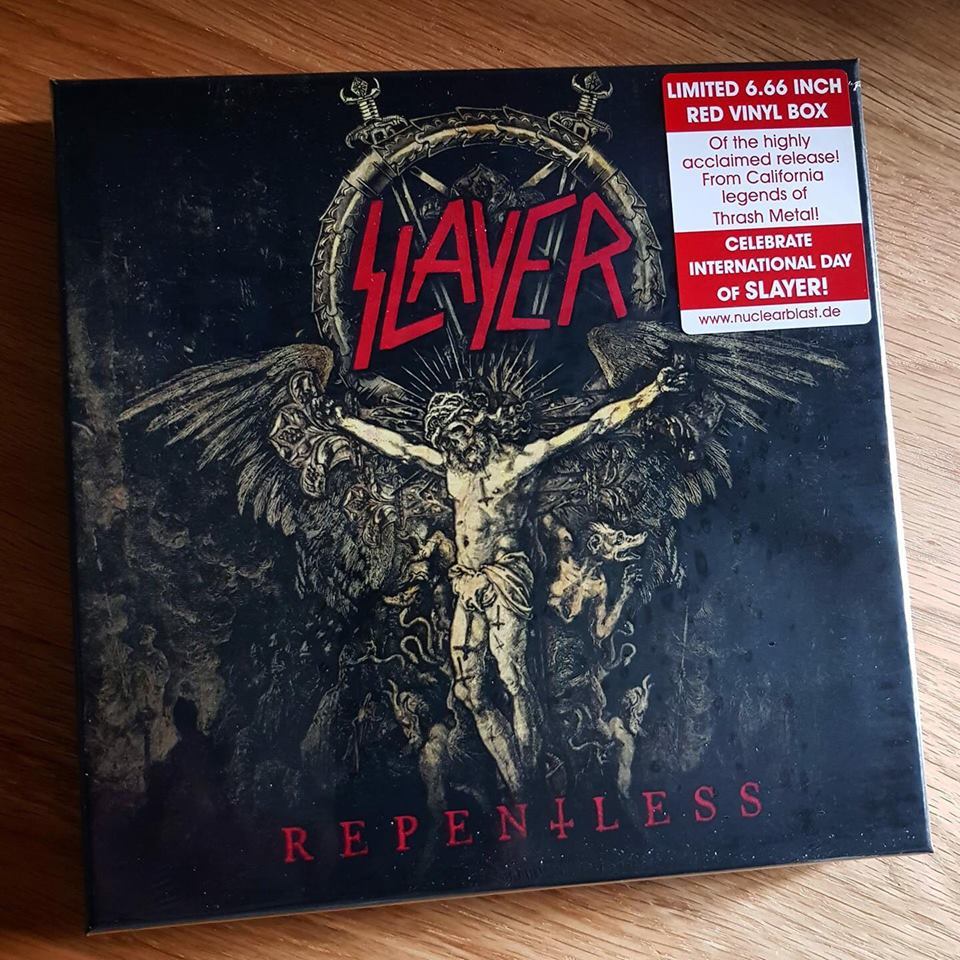Slayer Recognizes International Day of Slayer With Repentless Box Set Sticker